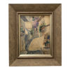 antique late th century signed watercolor painting framed