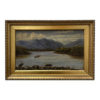 mid th century english mountain landscape oil painting framed